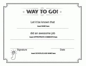 way to go award certificate microsoft word teaching pinterest