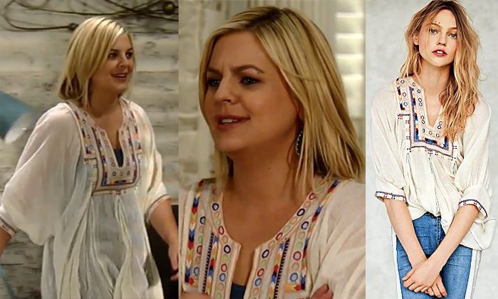 I'm a Soap Fan: Maxie Jones's Embroidered Peasant Blouse - General ...