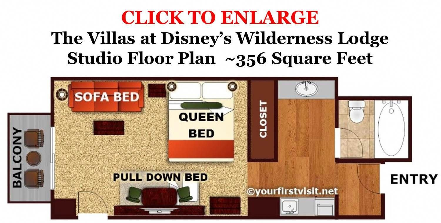 Review The Villas At Disney S Wilderness Lodge Continued Yourfirstvisit Net Studio Floor Plans Disney Vacation Club Vacation Club