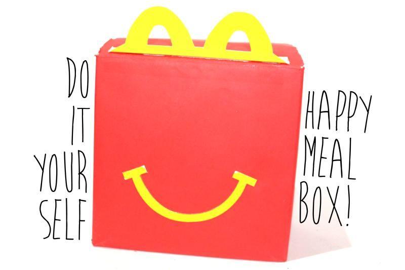 Diy Mcdonald S Happy Meal Box Diy Crafts Speech Therapy
