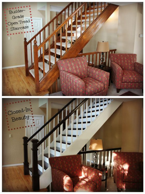 Open Tread Stairway Remodel Staircase Makeover Stair