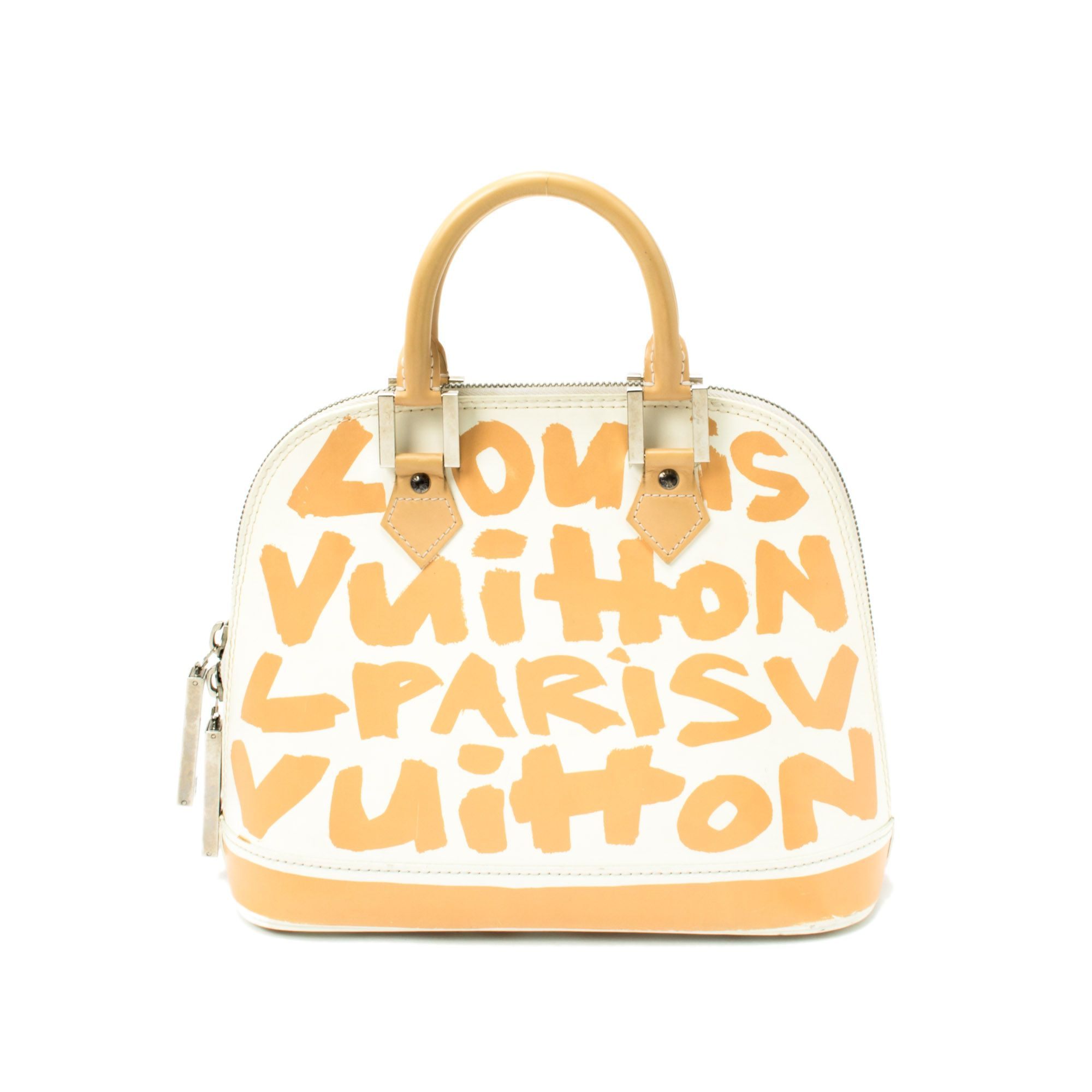 LouisVuitton two tone leather  LimitedEdition  Alma PM in  Graffiti.  Available at lxrco.com for  999 0d3e71319aa6b
