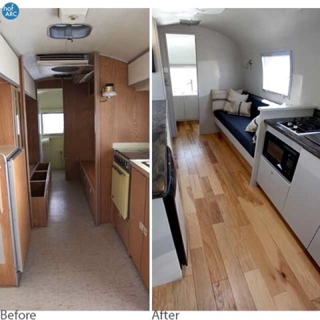 Before & After Airstream Interior