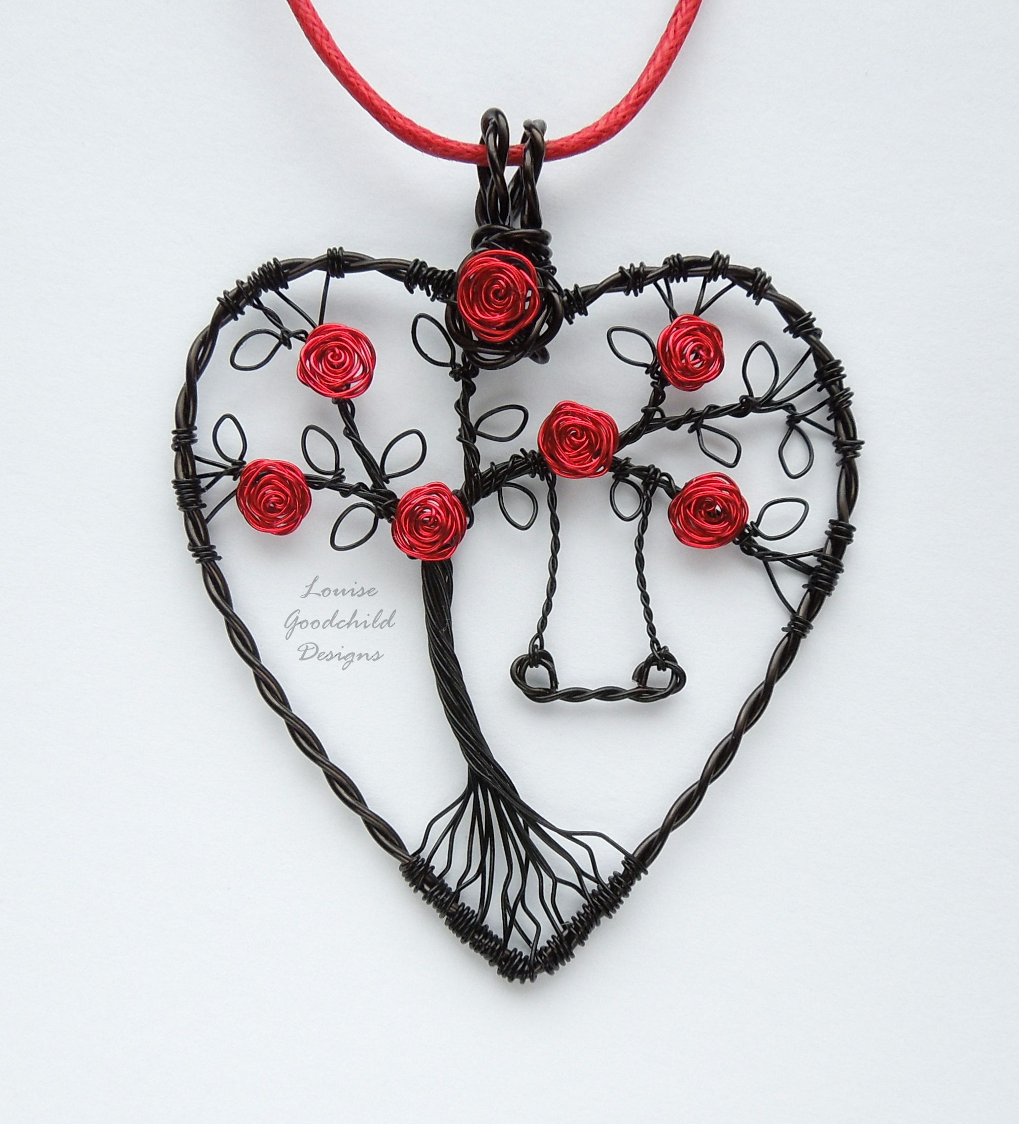 Gothic Rose Swing wire pendant by Louise Goodchild Designs | louise ...