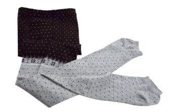 Cute Seamless Leggings With Woven Polka Dot Print Pants AMC. $12.99