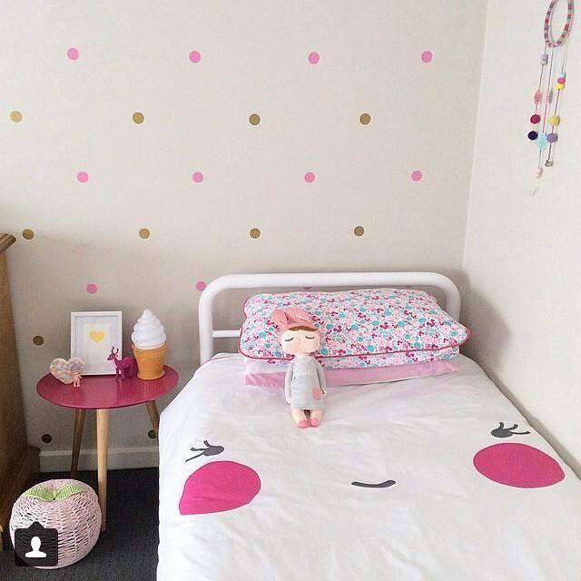 Polka dotty and pretty girls room cuarto ni as - Dormitorios dorados ...