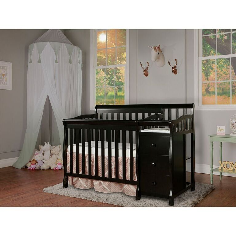 Black 4 In 1 Convertible Crib Changer Jayden Cribs Mini Crib Convertible Crib