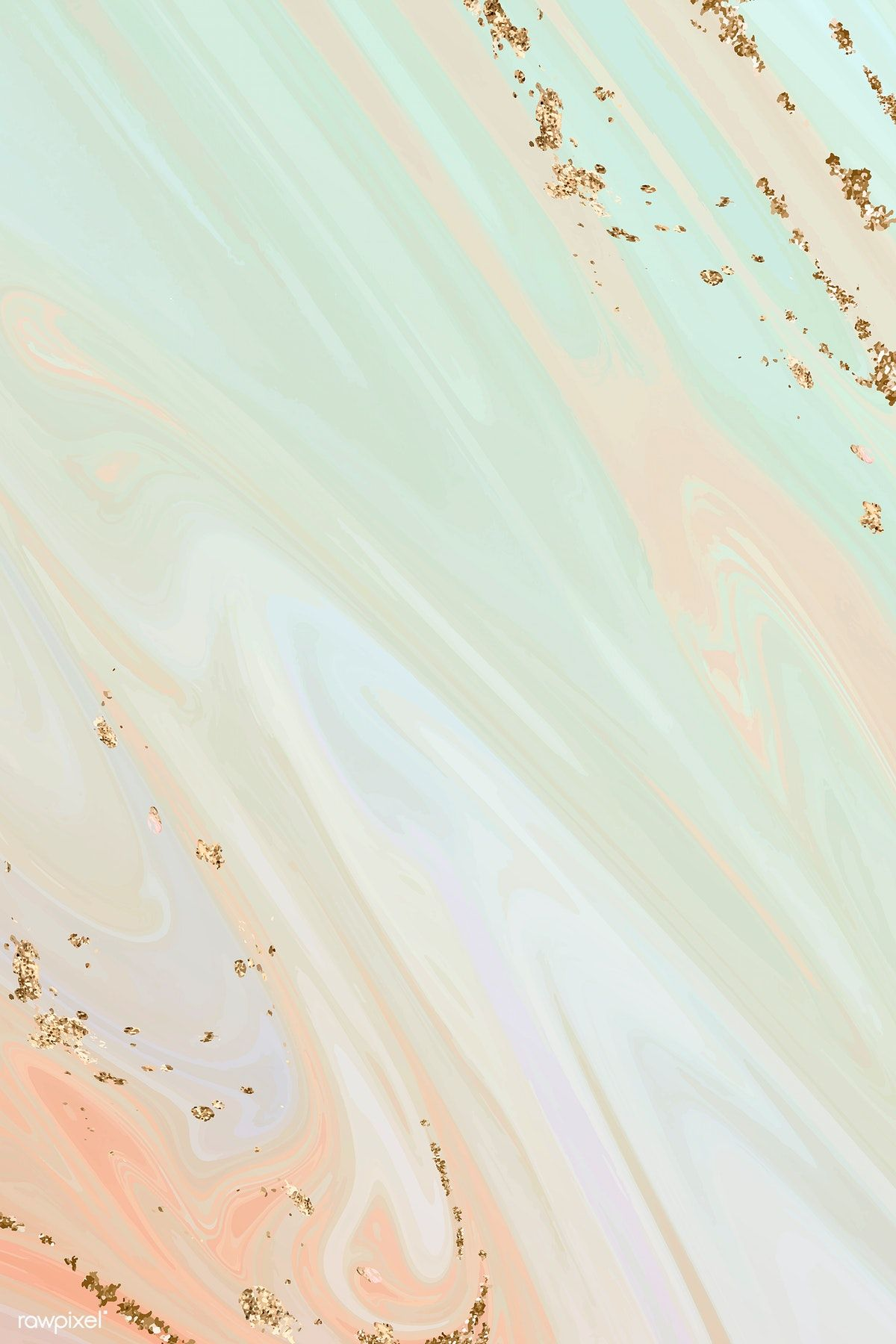Download premium vector of Greenish fluid patterned background vector