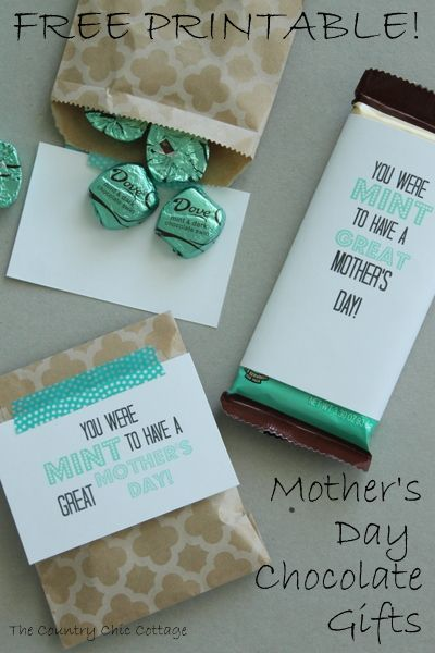 Mother's Day Gift — MINT Chocolate FREE Printable