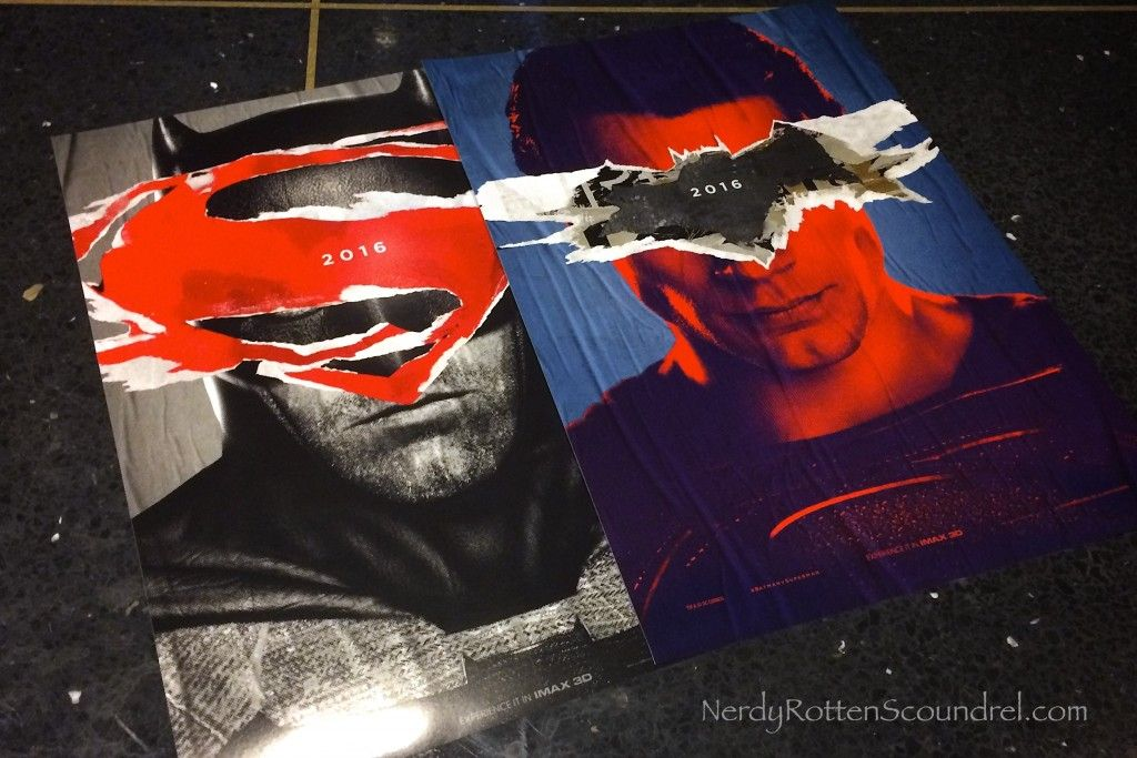 Teaser Posters Given Out At Tonights BATMAN V SUPERMAN Trailer IMAX Event In NYC