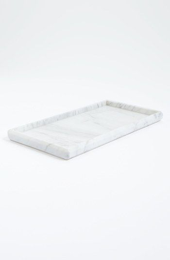 waterworks studio 39 luna 39 white marble tray online only. Black Bedroom Furniture Sets. Home Design Ideas