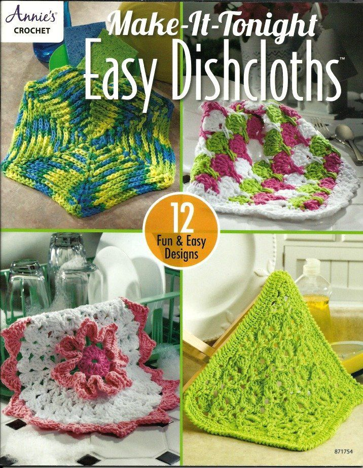 Easy Dishcloths New From Annies Crochet Patterns Kitchen
