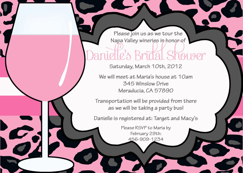 Wine Girl Bridal Shower Bachelorette Party Invitation – Customizable Bachelorette Party Invitations