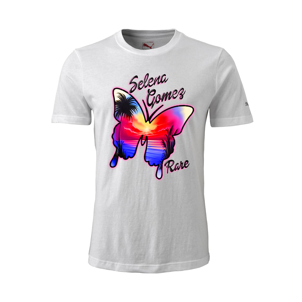 Selena Gomez Rare Butterfly Airbrush Inspired T Shirt Digital Albu Selena Gomez Official Shop In 2020 Shirts Selena Print Clothes