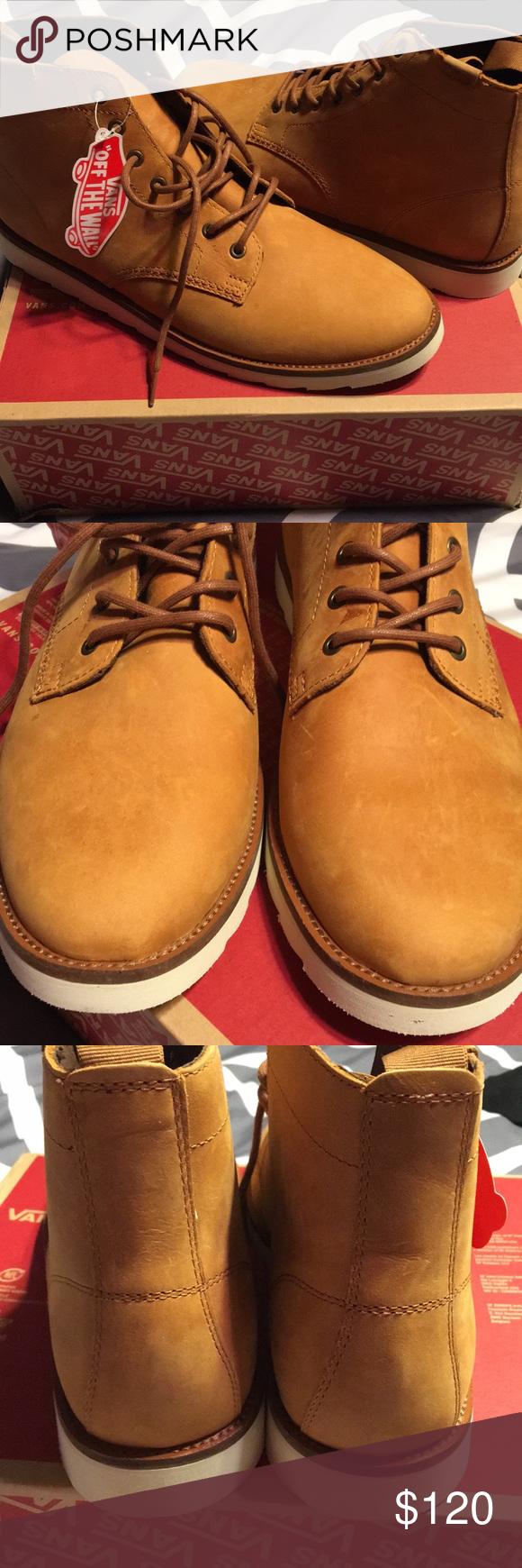 5340123d3c NIB Leather Sahara Boot light brown. Men s 12 Brand new in box. Vans Shoes