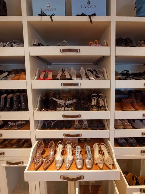 prateleiras transparentes para sapatos