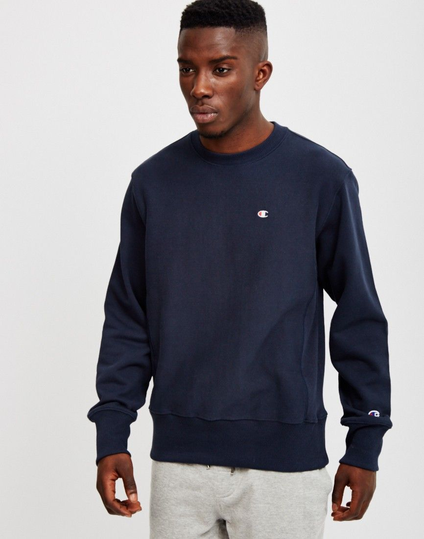 3ad0acca Shop now for latest Champion Reverse Weave Crew Neck Sweatshirt from online  menswear retailer THE IDLE MAN