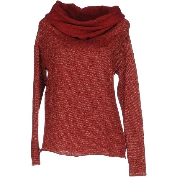 Patrizia Pepe Jumper ($100) ❤ liked on Polyvore featuring tops, sweaters, maroon, long sleeve jumper, maroon sweater, jumpers sweaters, red top and red long sleeve top