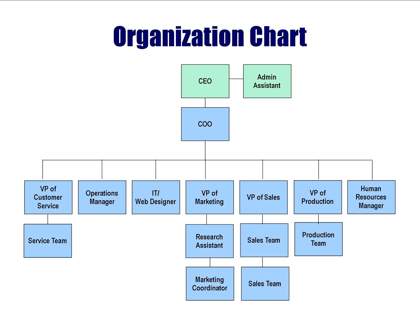 Organizational Chart Business Organizational Structure Business Org Chart
