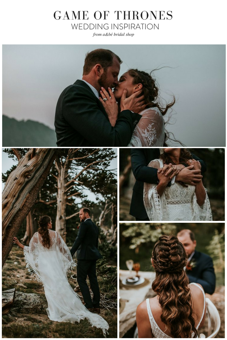 Celestial game of thrones inspired mountain bridal shoot unique