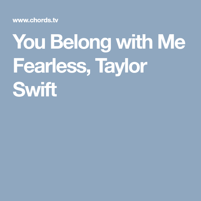 You Belong with Me Fearless, Taylor Swift | Guitar | Pinterest ...
