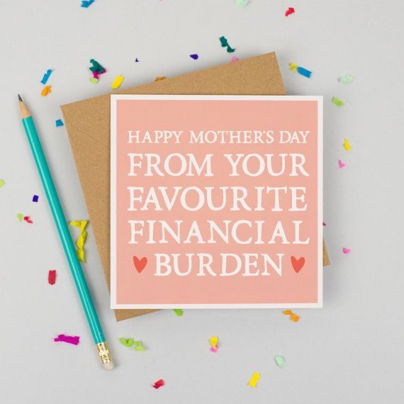 Funny Mothers Day Card Card for Mum by ZoeBrennanCards on Etsy