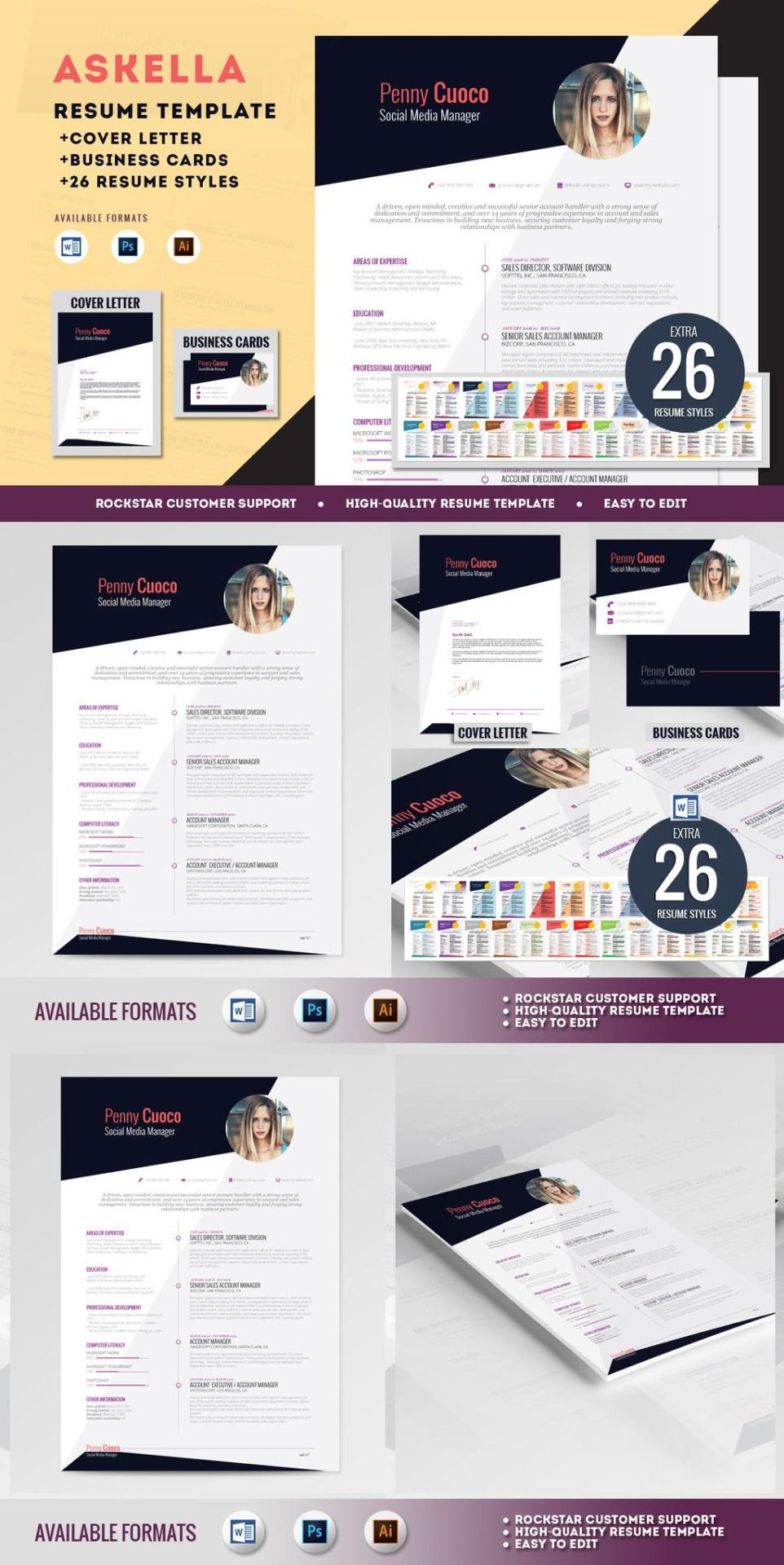 Resume Template FREE Cover Letter FREE Business