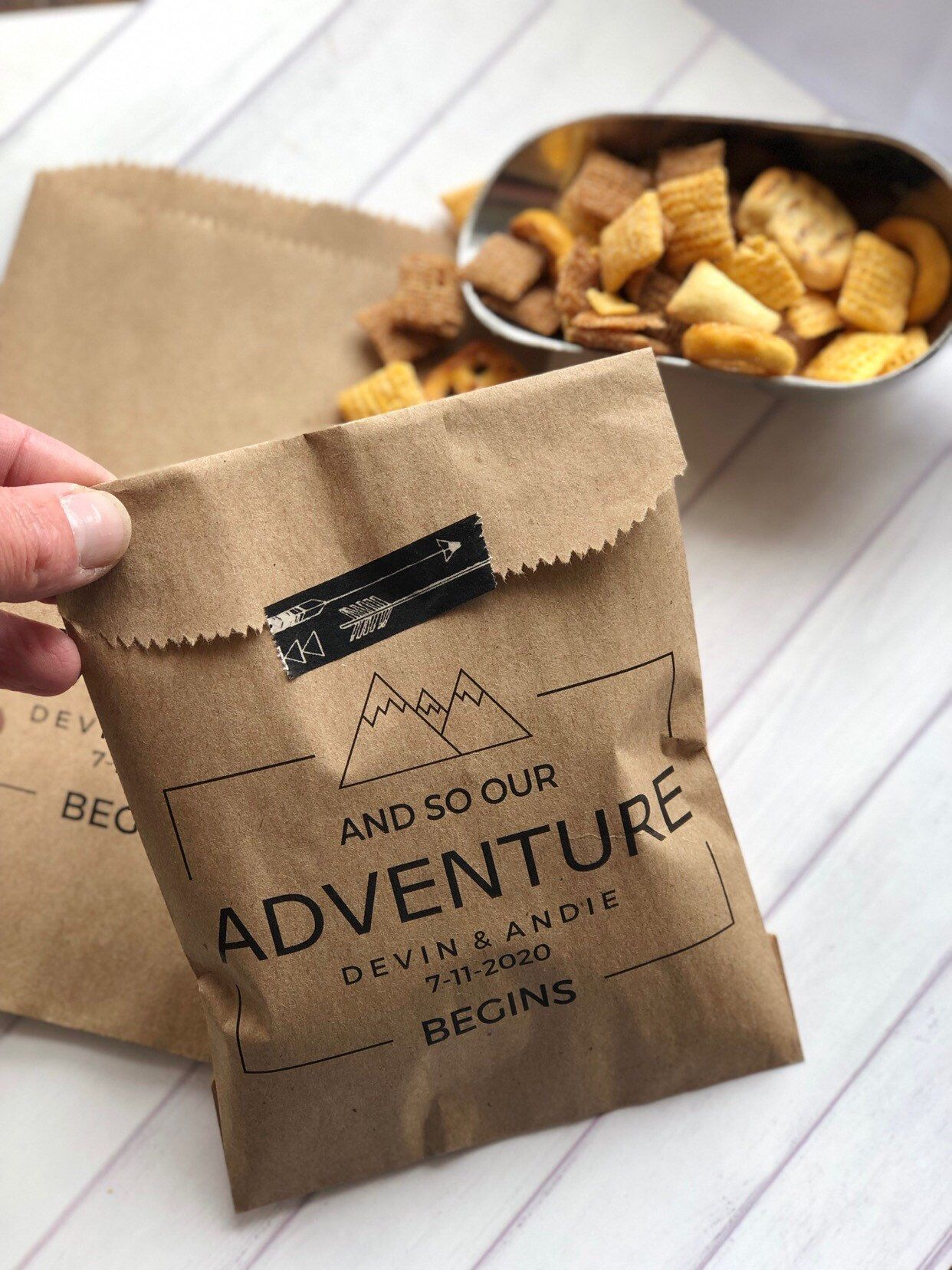 Trail Mix Bar Bags, Popcorn Bags, Wedding Snack Bags