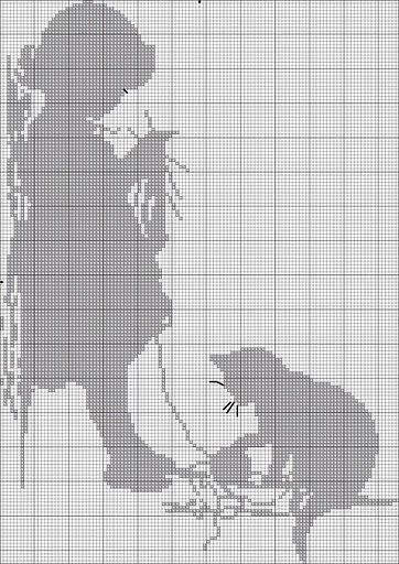 CUADRO MONOCOLOR | crochet | Pinterest | Punto de cruz, Puntos y Gato