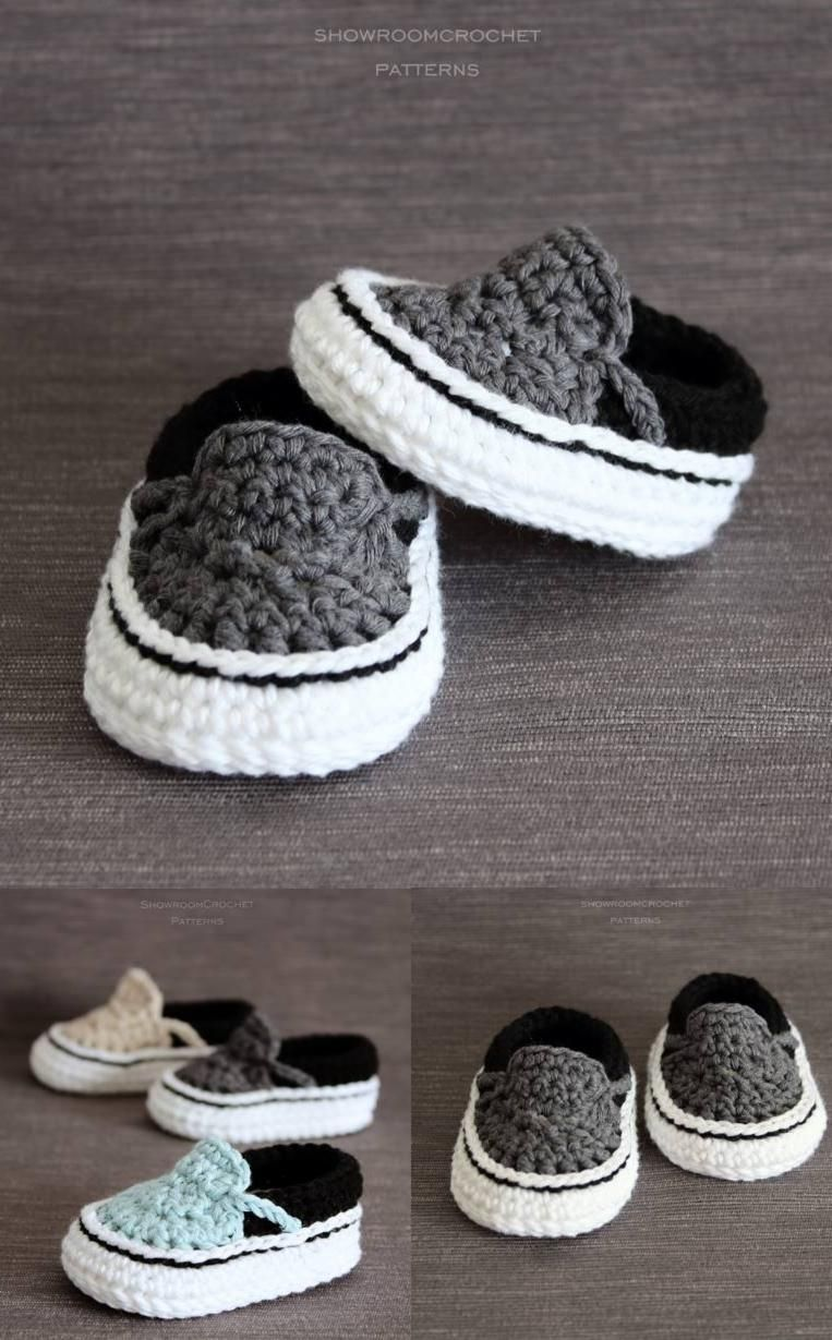 Crochet PATTERN. Vans style baby sneakers. Instant Download ...