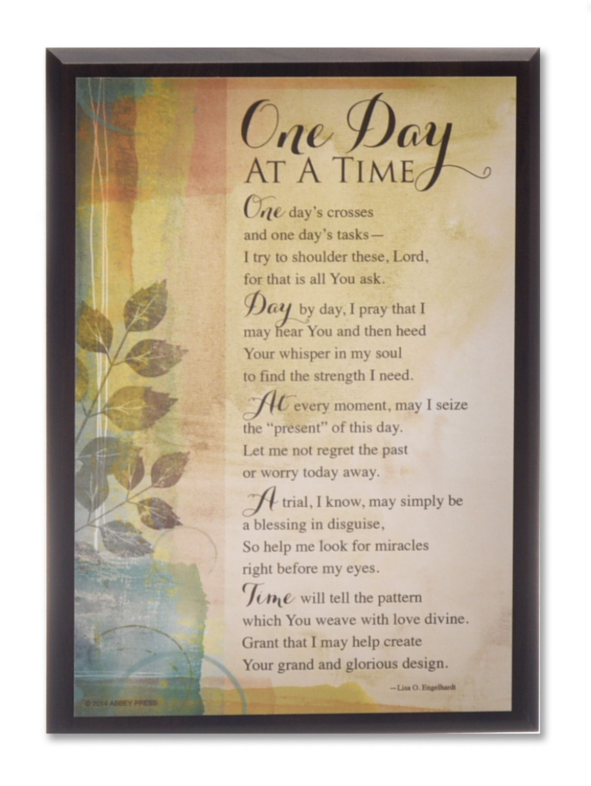 One Day at A Time - Serenity Prayer Plaque | Pinterest | Serenity ...