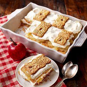 Unsere Empfehlung für das Weihnachtsdessert: Winterliches Spekulatius Tiramisu mit fruchtiger Apfelfüllung #süßesbacken