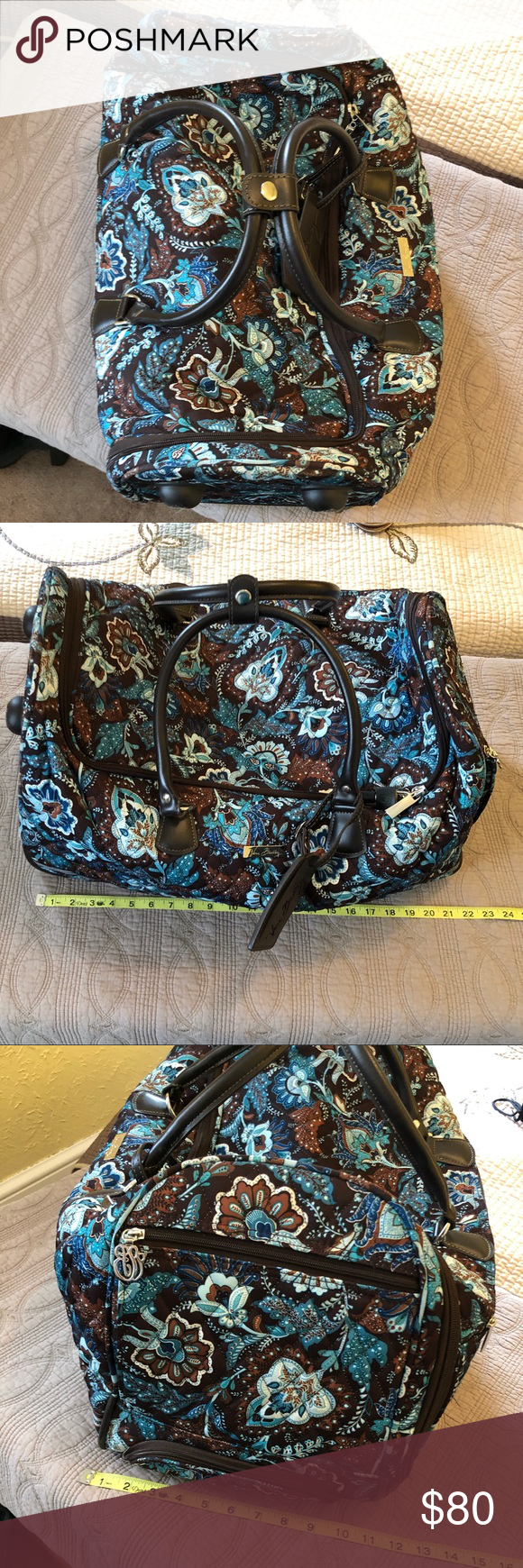 1e40258e87 Vera Bradley Java Blue roller suitcase bag Great condition
