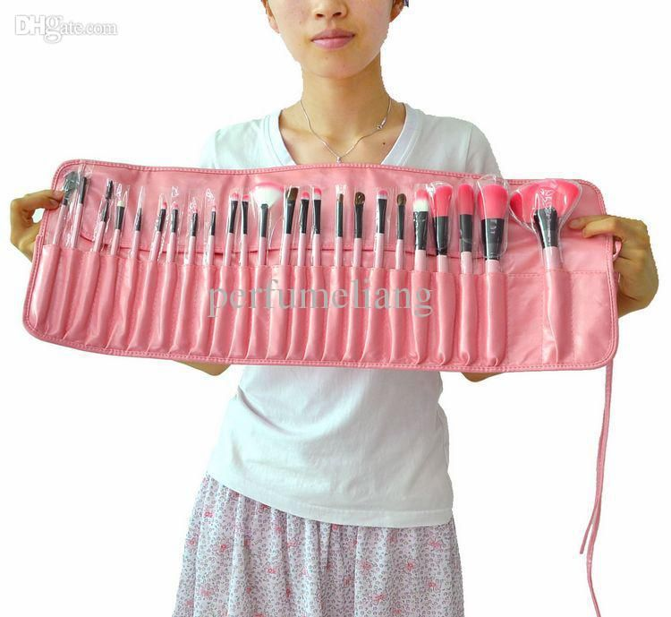 Professional 24 pcs Makeup Brush Set tools Make-up Toiletry Kit Wool Brand Make Up Brush Set Case