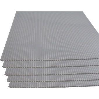 CORRUGATED PP SHEET WHITE 1250 X 2000 MM