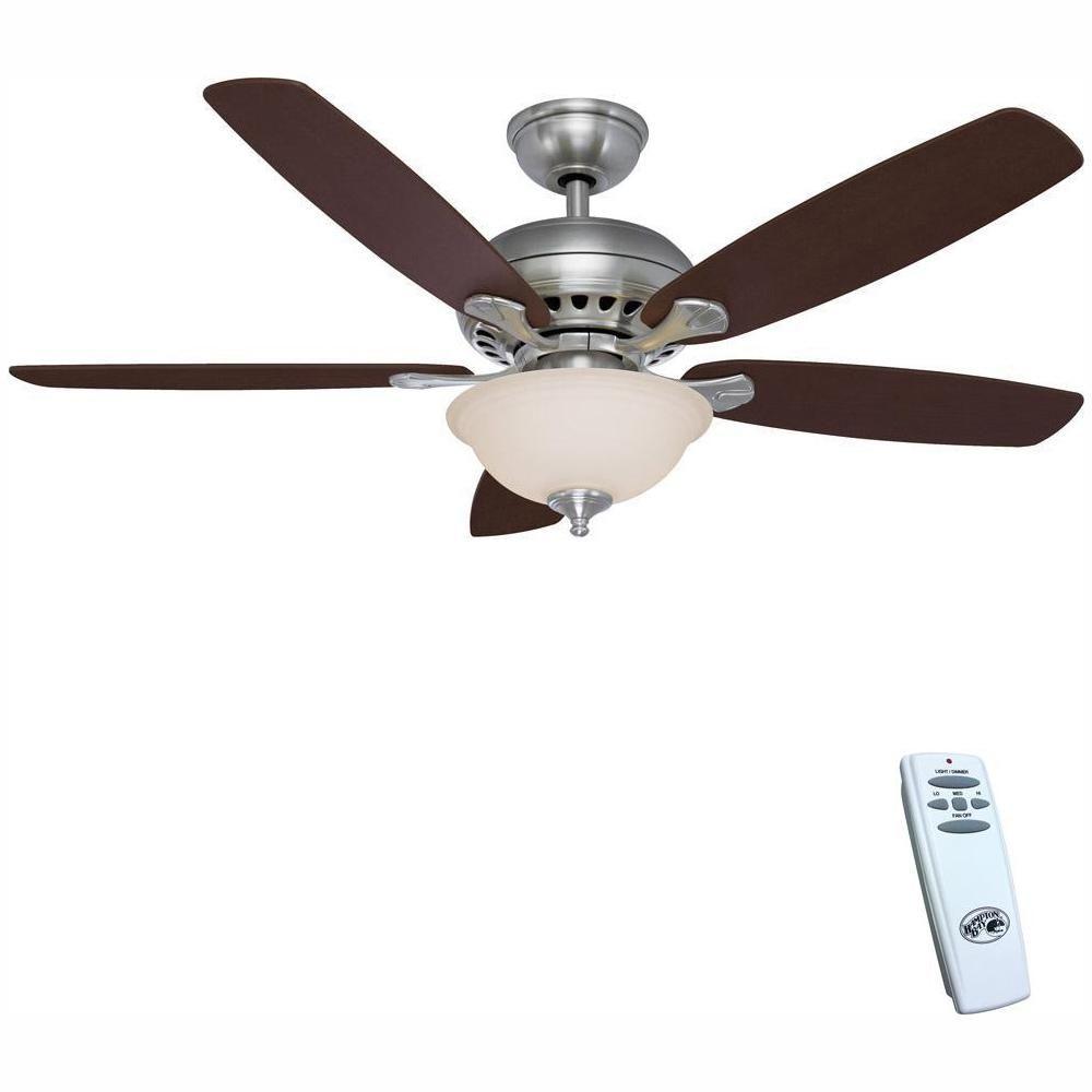 Hampton Bay Southwind 52 In Led Indoor Brushed Nickel Ceiling Fan