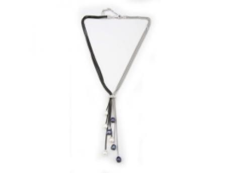 Frederic Duclos Necklace - Sterling Silver & Ruthenium lariat