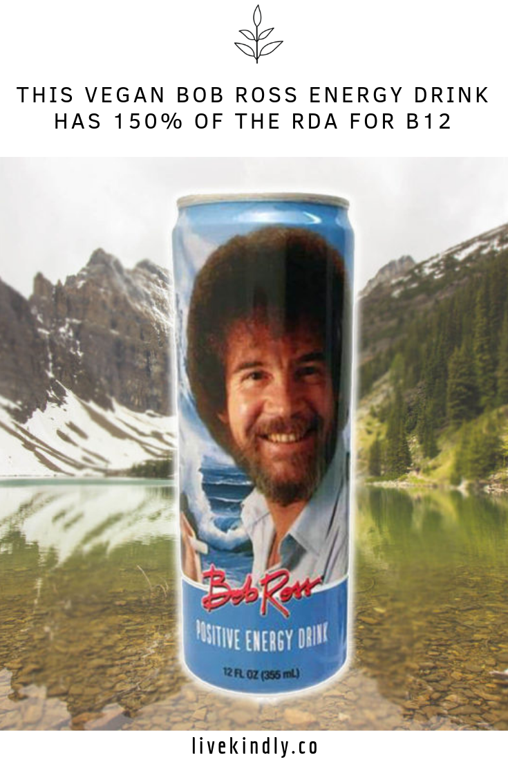 This Vegan Bob Ross Energy Drink Has 150 Of The Rda For B12 Bob Ross Energy Drinks Best Energy Drink