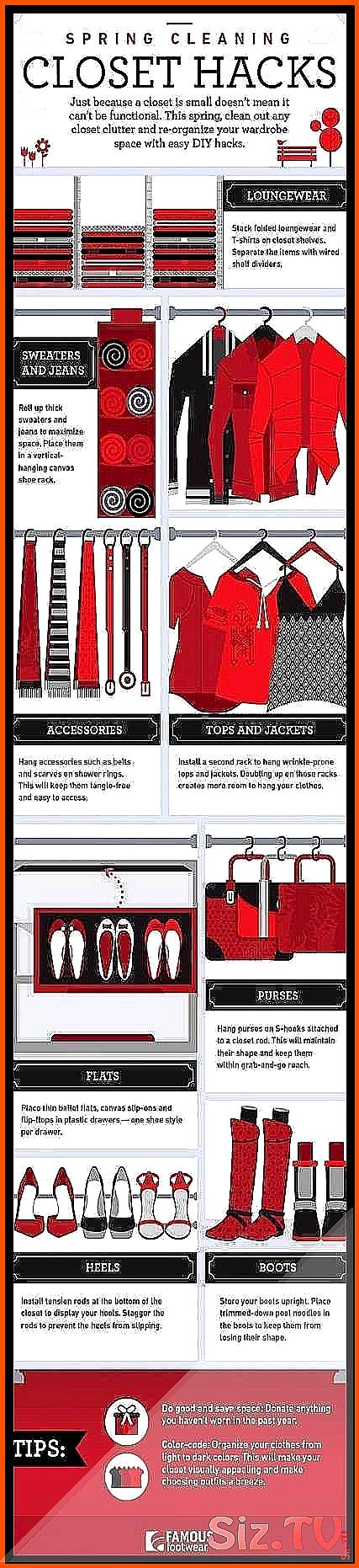 Best closet hacks organizing clothes dorm room Ide / #CLOSET #clothes #Dorm #DormRoomhacksclothes #Hacks #Ide #organizing #Room #organizingdormrooms