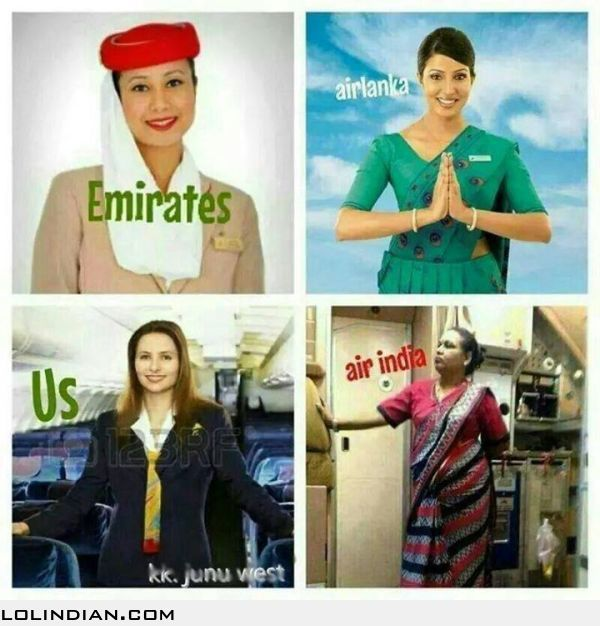 The Airhostess Of Air India - Lol Indian - Funny Indian -8136