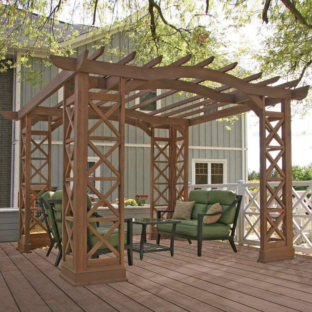 Yardistry Arched Roof Pergola, 12 by 14Feet