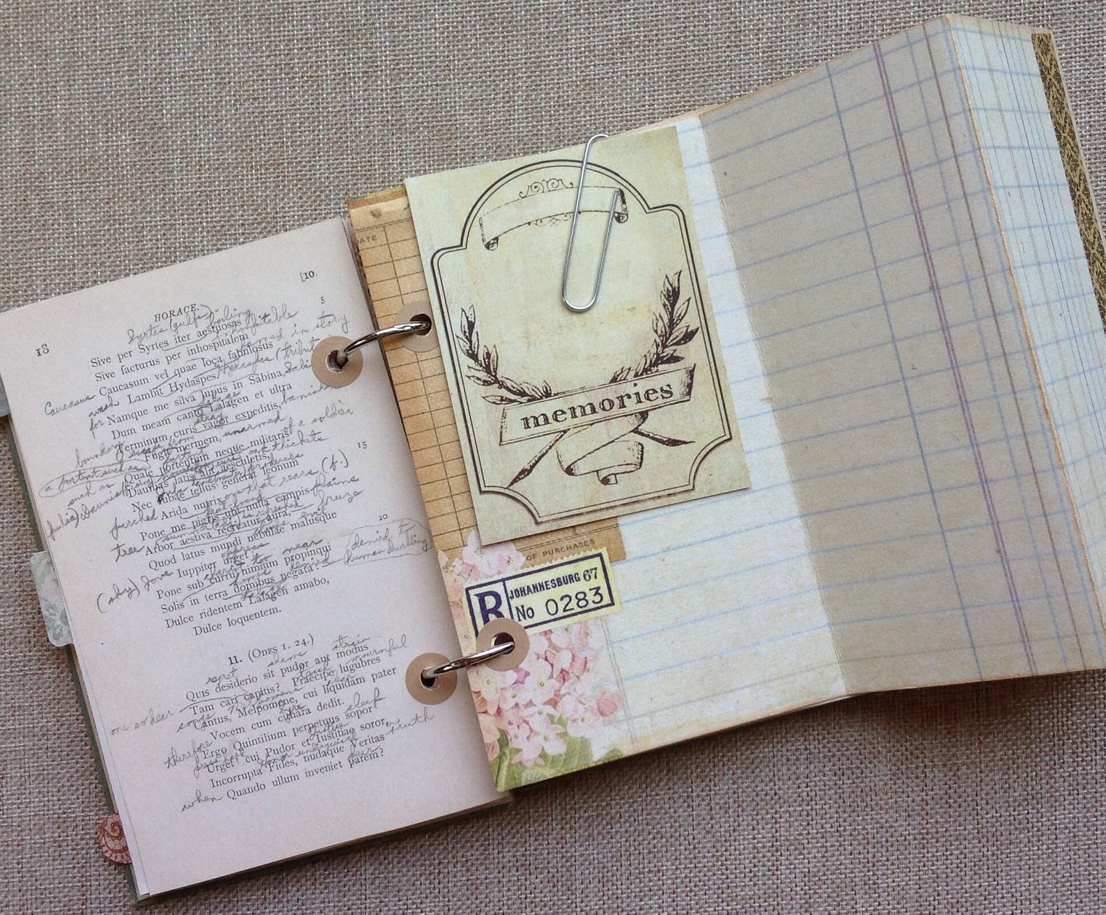 Handmade Vintage Book Journal Keepsake Album Junk Journal Etsy Junk Journal Vintage Book Book Journal