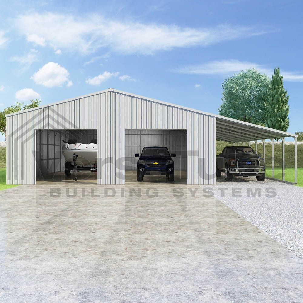 Steel Building Kits And Metal Buildings By Steel Building: Summit Garage With Lean
