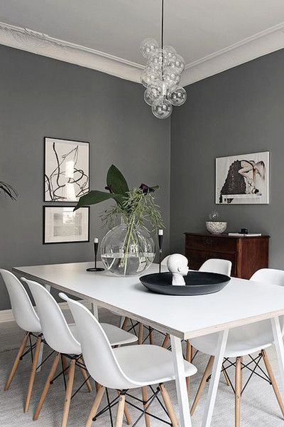 High Contrast Dining Grey Dining Room Modern Dining Room