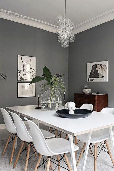 High Contrast Dining Grey Dining Room Modern Dining Room