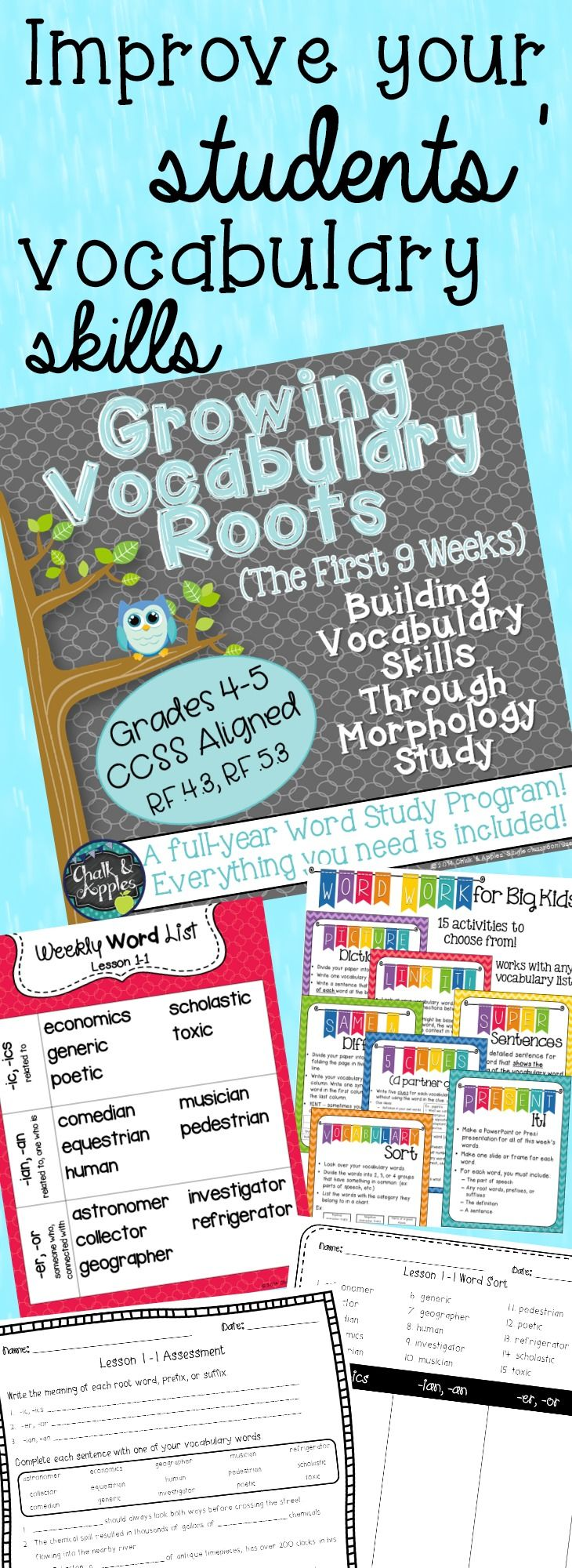 Vocabulary Roots Word Study for Grades 5-6 - Unit 1 | Teaching ...