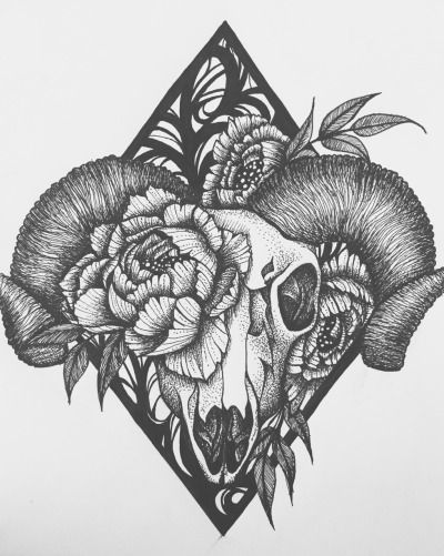b9be9d0b0 ram skull tattoo | Tumblr | Inked | Tattoos, Ram tattoo, Aries ...