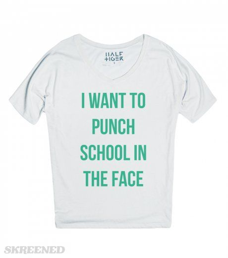 I Want to Punch School in the Face | School deserves a punch in the face. I want to be the one to punch it in the face. #Skreened