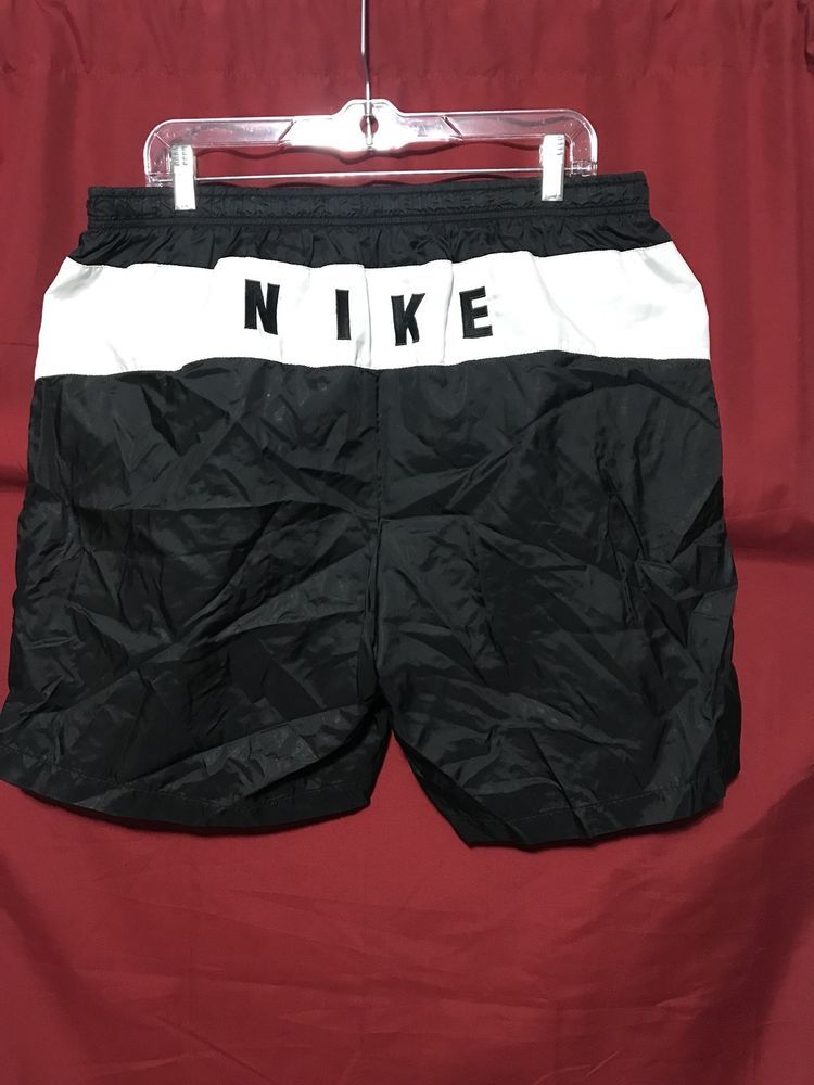 d3d5e8daf3 Men's Vintage Nike Swim Trunks Black/White Made In Thailand Size X Large # Nike #Shorts