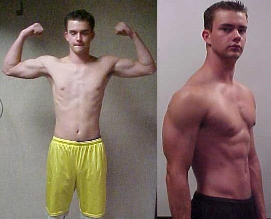 Mass gainer before and after